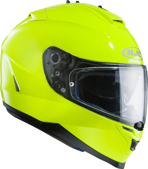 KASK HJC IS-17 FLUORESCENT GREEN integralny z blendš + pinlock (