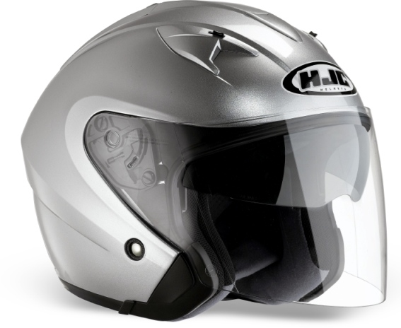 KASK HJC IS-33 METAL CR SILVER otwarty JET blenda