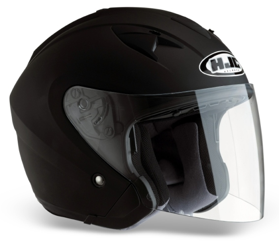 KASK HJC IS-33 RUBBERTONE BLACK otwarty JET blenda