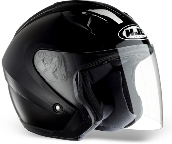 KASK HJC IS-33 SOLID BLACK otwarty JET blenda